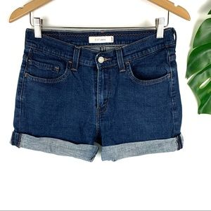 Levi's 515 Mid-High Rise Denim Jean Shorts Size 8